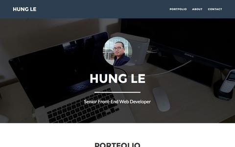 Screenshot of Home Page vinhhungle.com - Senior Front-End Developer Ho Chi Minh City - Hung Le - captured Nov. 23, 2016