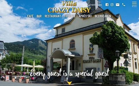 Screenshot of Home Page crazy-daisy.at - Villa Crazy Daisy   Café · Bar · Restaurant and more! - captured Oct. 29, 2018