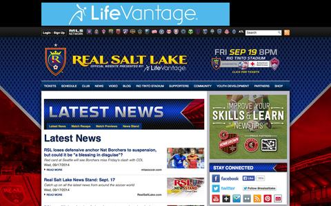 Screenshot of Press Page realsaltlake.com - Latest News | Real Salt Lake - captured Sept. 18, 2014