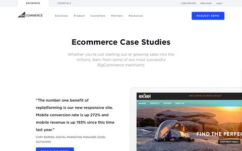 Screenshot of Case Studies Page bigcommerce.com - (2) New Messages! - captured March 4, 2019