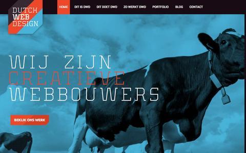 Screenshot of Home Page dutchwebdesign.nl - Dutchwebdesign   Internetbureau Breda, Amsterdam en Rotterdam - captured Sept. 16, 2015