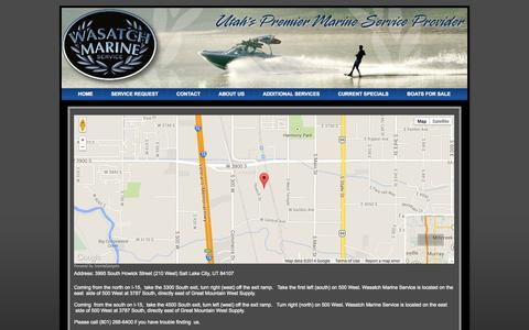 Screenshot of Maps & Directions Page wasatchmarineservice.com - Directions Page - captured Sept. 30, 2014