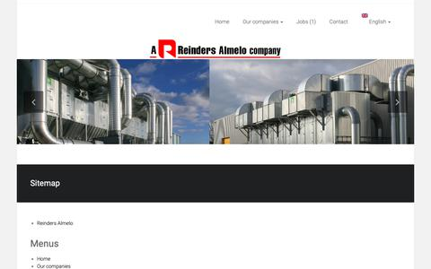 Screenshot of Site Map Page reinders.nl - Sitemap – Reinders Almelo - captured Oct. 20, 2018