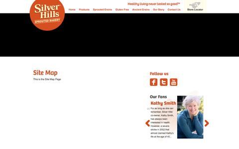 Screenshot of Site Map Page silverhillsbakery.ca - Sitemap - Silver Hills - captured Oct. 26, 2014