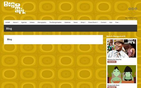 Screenshot of Blog bongomatik.com - Blog     Bongomatik - captured Sept. 30, 2014