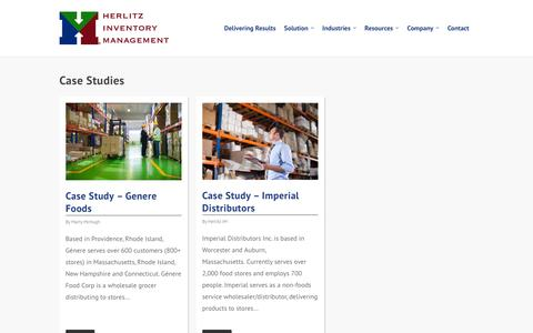 Screenshot of Case Studies Page herlitzim.com - Case Studies - Herlitz Inventory Management - captured Jan. 28, 2016