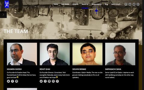 Screenshot of Team Page gadurr.com - Gadurr Media     The Team - captured Oct. 1, 2014
