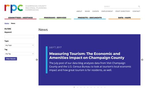Screenshot of Press Page ccrpc.org - News – Champaign County Regional Planning Commission - captured July 24, 2017