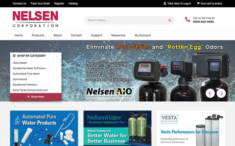 Screenshot of Home Page nelsencorp.com - Nelsen Corporation - captured July 2, 2018