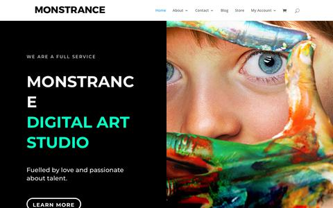 Screenshot of Home Page monstrance.co.za - Monstrance | Digital Art Studio - captured Oct. 20, 2018