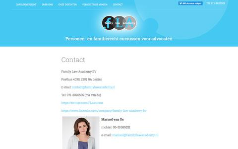 Screenshot of Contact Page familylawacademy.nl - Contact |  Family Law Academy - captured Oct. 13, 2017