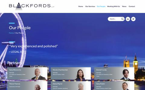 Screenshot of Team Page blackfords.com - Our People | Blackfords LLP - captured Oct. 6, 2018