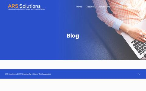 Screenshot of Blog arssolutions.co.in - Blog - Welcome to ARS Solutions - captured Dec. 17, 2018
