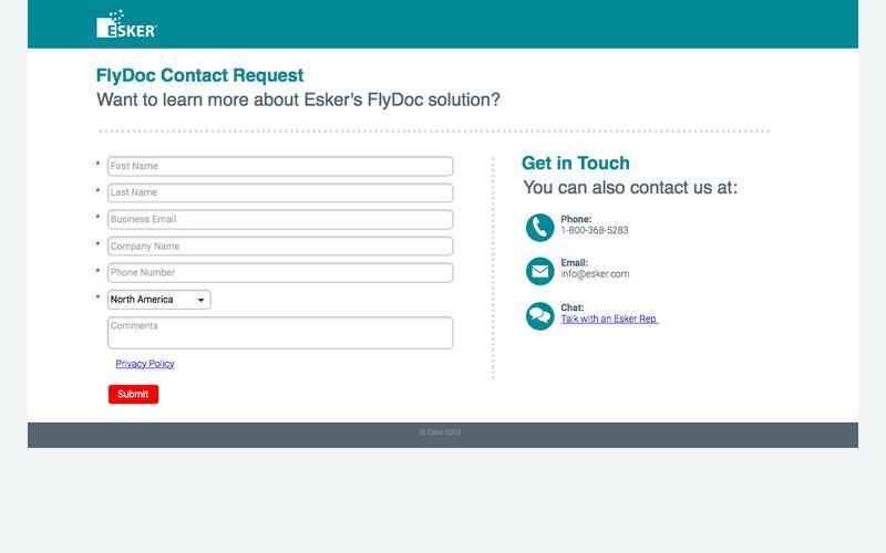 FlyDoc Contact Request | Esker