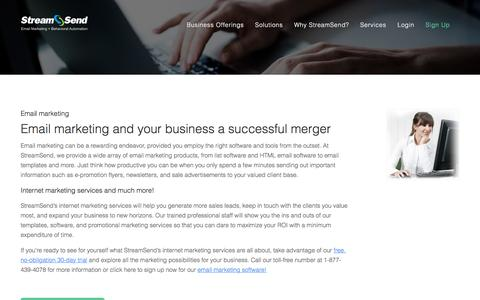 Email Marketing, Internet Marketing Services, Email Marketing Software - StreamSend