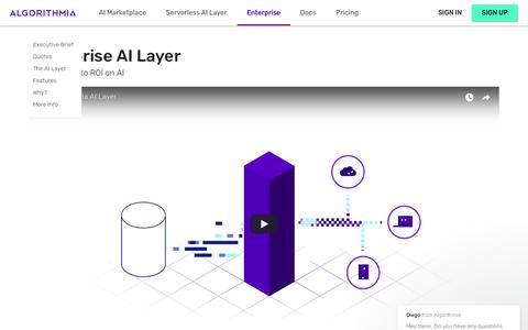 Algorithmia - Enterprise AI Layer