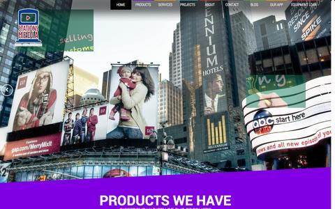 Screenshot of Home Page stationsmedia.com - Stations Media: The leader of Digital Media Advertising, Kiosk, Gas station and Mobile Advertising - captured Sept. 30, 2014