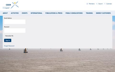 Screenshot of Login Page ceer.eu - Welcome - ceer.eu - captured Sept. 3, 2017