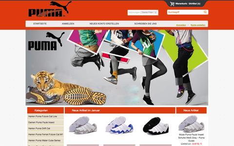 Screenshot of Home Page zazazou.ch - Puma Schuhe Damen & Herren Sale In Puma Schweiz Outlet - captured Jan. 27, 2015