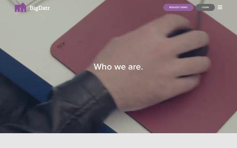 Screenshot of About Page bigdatr.com - Who we are. | BigDatr.com - captured Jan. 3, 2016