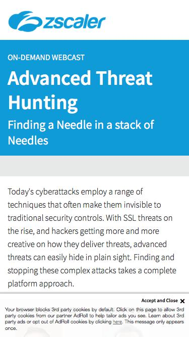 Advanced Threat Hunting   Zscaler