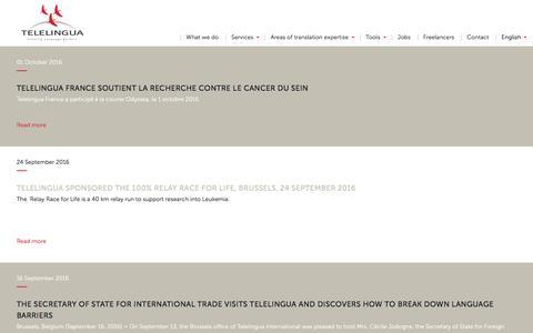 Screenshot of Press Page telelingua.com - News - Telelingua - captured Nov. 29, 2016