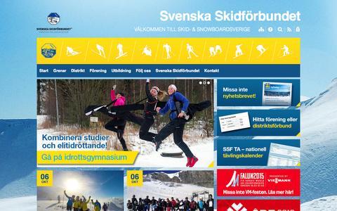 Screenshot of Home Page skidor.com - Svenska Skidförbundet - captured Oct. 6, 2014