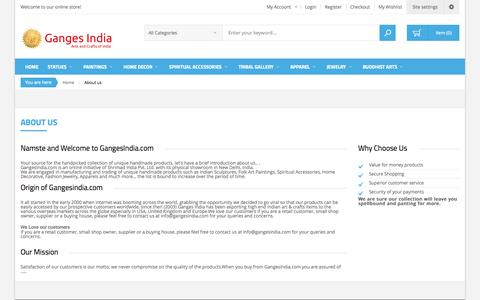 Screenshot of About Page gangesindia.in - About us - captured Nov. 3, 2014