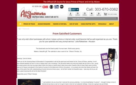 Screenshot of Testimonials Page art-soulworks.com - Testimonials - captured Sept. 30, 2014