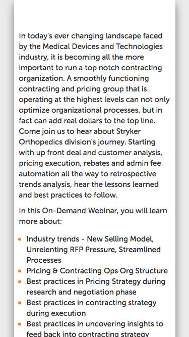 [Webinar] Contracting excellence & best practices for the MedTech Industry