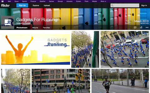 Screenshot of Flickr Page flickr.com - Flickr: Gadgets For Running's Photostream - captured Oct. 22, 2014