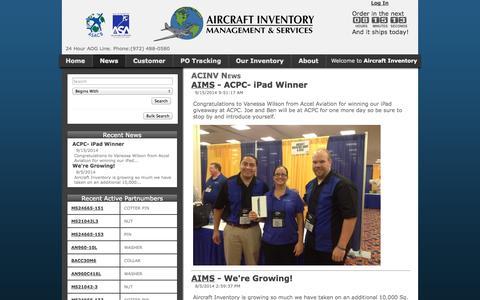 Screenshot of Press Page acinv.com captured Oct. 8, 2014