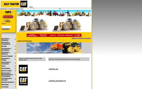 Screenshot of Landing Page kellytractor.com - Kelly Tractor Co. - captured Aug. 12, 2016