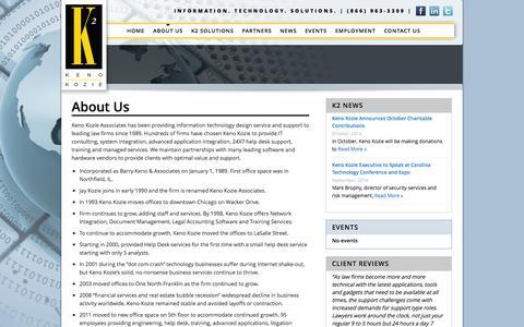 Screenshot of About Page kenokozie.com - About Us | Keno KozieKeno Kozie - captured Oct. 6, 2014
