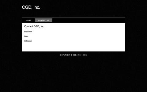 Screenshot of Contact Page cgd-inc.com - CGD Inc. - captured Sept. 30, 2018