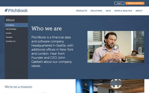 Screenshot of About Page pitchbook.com - About Us: Our Story & Executive Team   PitchBook - captured Oct. 30, 2017