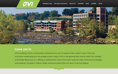 Screenshot of Jobs Page dvigridsolutions.com - Careers - Dominion DVI - captured Feb. 8, 2016