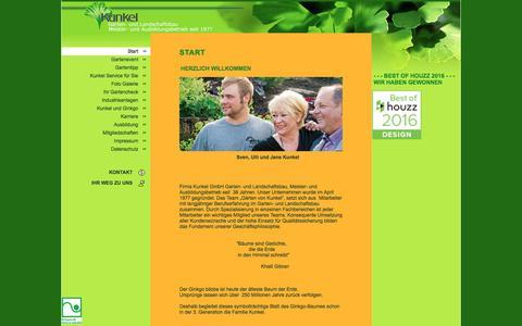 Screenshot of Home Page kunkel-garten.de - Start - captured June 9, 2016