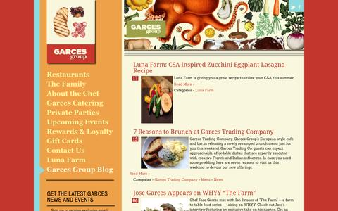 Screenshot of Blog garcesgroup.com - Garces Group Blog - captured Oct. 2, 2014