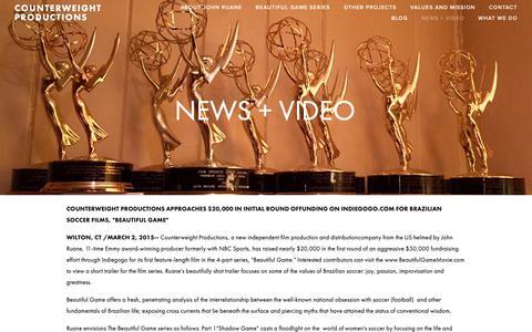 Screenshot of Press Page counterweightproductions.com - NEWS + VIDEO — Counterweight Productions - captured Sept. 29, 2018