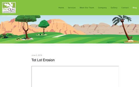 Screenshot of Case Studies Page proquallandscaping.com - Case Studies — ProQual Landscaping - captured July 16, 2016