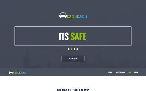 Screenshot of FAQ Page kabukabu.com.ng - KabuKabu   Cheap, Safe, Convenient, Move with kabukabu - captured Nov. 2, 2014