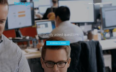 Screenshot of FAQ Page bidalgo.com - HR & interview FAQs | Bidalgo - captured Feb. 2, 2018