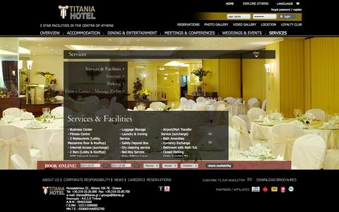 Screenshot of Services Page titania.gr captured Oct. 7, 2014