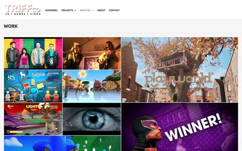 Screenshot of Services Page triff.co - triff.co | 3D, Game and Video Artist - captured Feb. 25, 2016