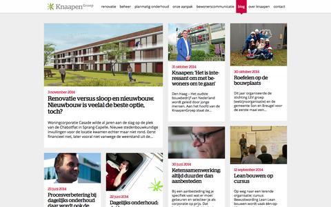 Screenshot of Blog knaapen.nl - KnaapenGroep: blogs over renovatie, beheer en onderhoud - captured Nov. 3, 2014