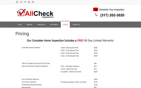 Screenshot of Pricing Page allcheck.biz - Pricing - captured Nov. 20, 2016