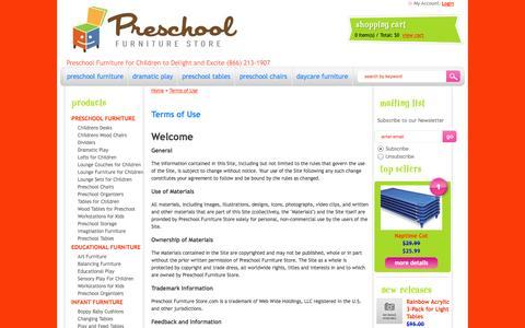 Screenshot of Terms Page preschoolfurniturestore.com captured Sept. 30, 2014