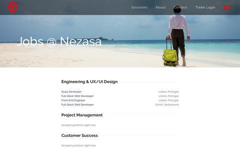 Screenshot of Jobs Page nezasa.com - Jobs @ Nezasa - Nezasa - captured July 9, 2017