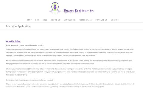 Screenshot of Jobs Page buzzerrealestate.com - Start a new Career with Buzzer Real Estate Inc. - captured Oct. 7, 2018